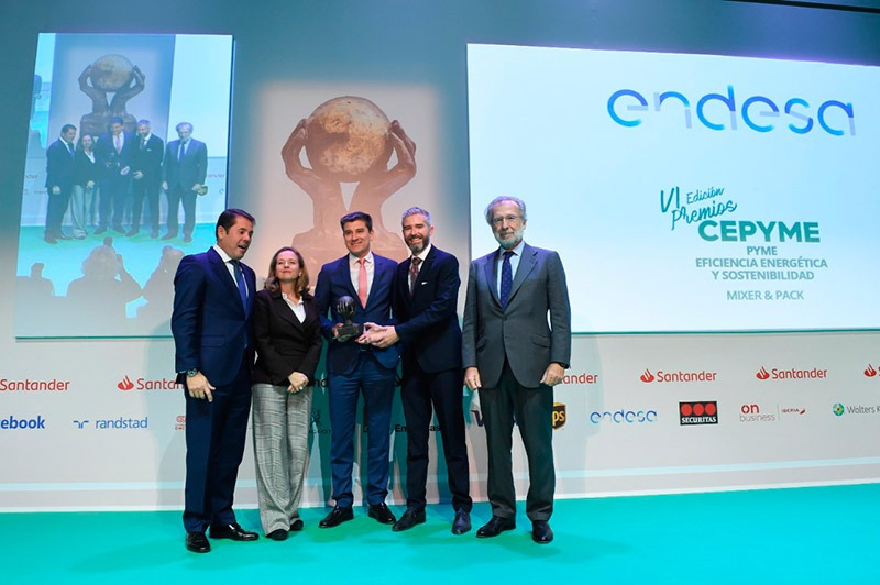 MIXER & PACK, WINNER OF CEPYME AWARDS FOR ITS ENERGY EFFICIENCY AND SUSTAINABILITY EFFORTS